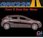 2014-2015 Kia Forte 5 Door Duel Wedge Vinyl Racing Stripe Kit (GRK225)