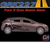2014-2015 Kia Forte 5 Door Graffiti Arrow Vinyl Racing Stripe Kit (M-GRK227)
