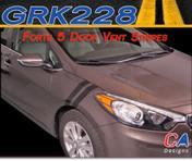 2014-2015 Kia Forte 5 Door Vent Vinyl Racing Stripe Kit (M-GRK228)