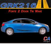 2014-2015 Kia Forte 2 Door Tr- Wave Vinyl Racing Stripe Kit (M-GRK216)