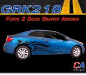 2014-2015 Kia Forte 2 Door Graffiti Arrows Vinyl Racing Stripe Kit (M-GRK218)