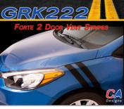 2014-2015 Kia Forte 2 Door Vent Vinyl Racing Stripe Kit (M-GRK222)