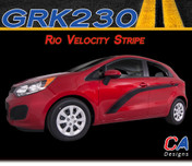 2011-2015 Kia Rio Velocity Vinyl Racing Stripe Kit (M-GRK230)