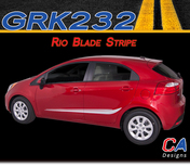 2011-2015 Kia Rio Blade Vinyl Racing Stripe Kit (M-GRK232)