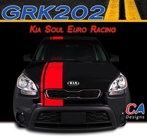 2010 2013 Kia Soul Euro Racing Vinyl Racing Stripe Kit
