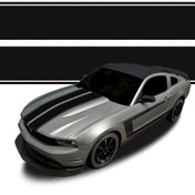 RACING STRIPES : Automotive Vinyl Graphics and Decals Kit - Shown on FORD MUSTANG (M-923)