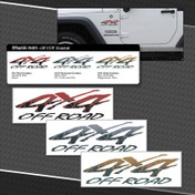 OFF ROAD 4X4 LOGOS : 3 Vinyl Decals Included (M-08701)