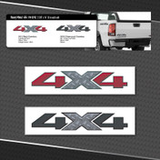 HEAVY METAL 4X4 LOGOS : 3 Vinyl Decals Included (M-08702)