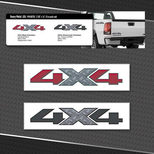 Heavy Metal 4x4 Logos 3 Vinyl Decals Included