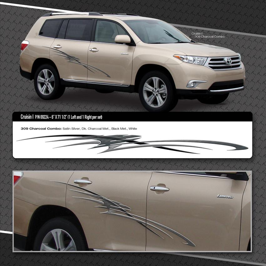 Cruisin Automotive Vinyl Graphics Shown On Toyota