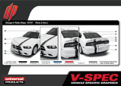 DODGE CHARGER E-RALLY KIT : Automotive Vinyl Graphics Shown on 2011-2014 Dodge Charger (M-VS151)