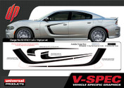DODGE CHARGER REV KIT : Automotive Vinyl Graphics Shown on 2015 Dodge Charger (M-VS162)
