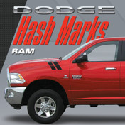 DODGE RAM HASH MARKS KIT : Automotive Vinyl Graphics Shown on 2009-2015 Dodge Ram (M-VS152)