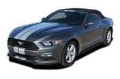 "2015 2016 2017 STALLION SLIM : Ford Mustang 7"" Wide Lemans Style Racing and Rally Stripes Vinyl Graphics Kit! * NEW Vinyl Graphics Kit for the 2015 2016 2017  Ford Mustang! Factory Style Racing Stripes and Rally Kit, featuring Premium Grade Vinyl. The ""look"" without the factory cost! Update your New Mustang today and start heads turning!"