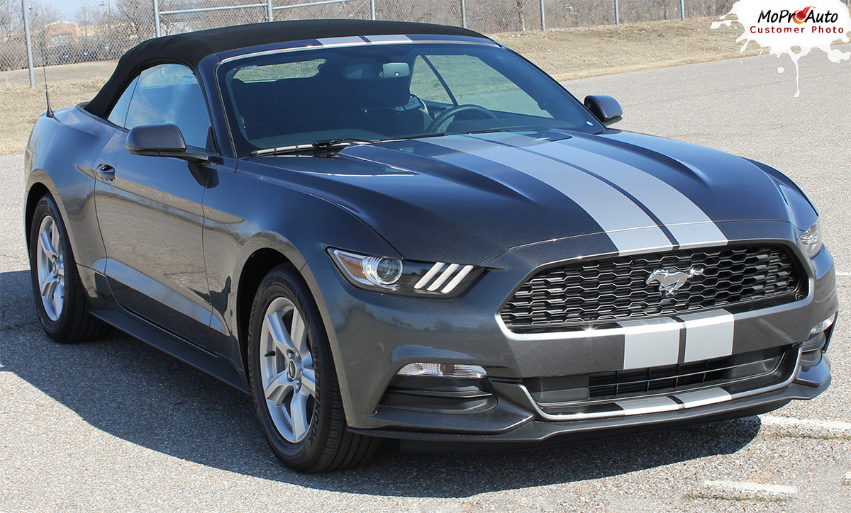 Stallion Slim 2015 2016 2017 Ford Mustang Lemans Style 7 Quot Wide Racing And Rally Stripes Vinyl