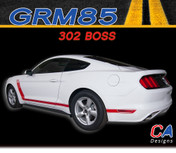 2015-2016 Ford Mustang 302 BOSS Rocker Vinyl Graphic Stripe Package Kit (M-GRM85)