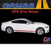 2015 Ford Mustang GTS Style Rocker Vinyl Graphic Stripe Package Kit (M-GRM88)