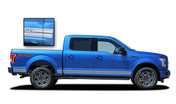 F-150 ROCKER TWO : Ford F-150 Lower Rocker Panel Stripes Vinyl Graphics and Decals Kit for 2015 2016 2017 F-Series Models (M-PDS3526)