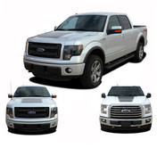 "FORCE HOOD Solid Color : Ford F-150 Hood ""Appearance Package Style"" Vinyl Graphic Kit for 2009-2014 and 2015 2016 2017 2018 Models (M-PDS3520)"