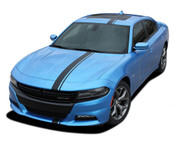 2015 2016 2017 2018 E-RALLY : Euro Style Vinyl Graphics Decal Stripe Kit for Dodge Charger (M-PDS3599)