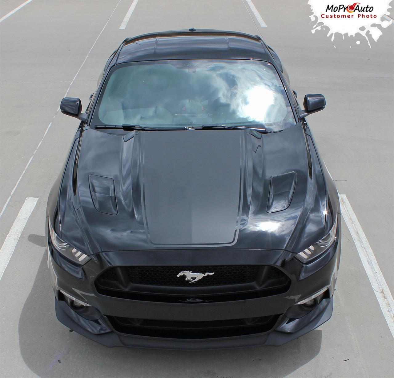 MEGA HOOD : 2015 2016 2017 Ford Mustang Wide Center Hood ...