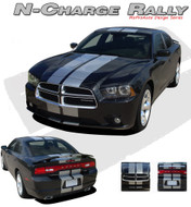 N-CHARGE RALLY : Vinyl Graphics Racing Stripes Kit for Dodge Charger  Complete Racing Stripes Kit for the Dodge Charger 2011-2014 Models! Pre-cut decal pieces ready to install, using only Premium Cast 3M, Avery, or Ritrama Vinyl!