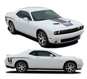 "Challenger CUDA STROBE : Factory OEM ""Cuda Style"" Hood and Side Vinyl Stripes for 2008-2010 2011 2012 2013 2014 2015 2016 2017 2018 Dodge Challenger (M-PDS3740.44)"
