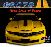 2010-2013 Chevy Camaro Hood Spear w/ Pinline Stripe : Vinyl Graphics Kit (M-GRC78)