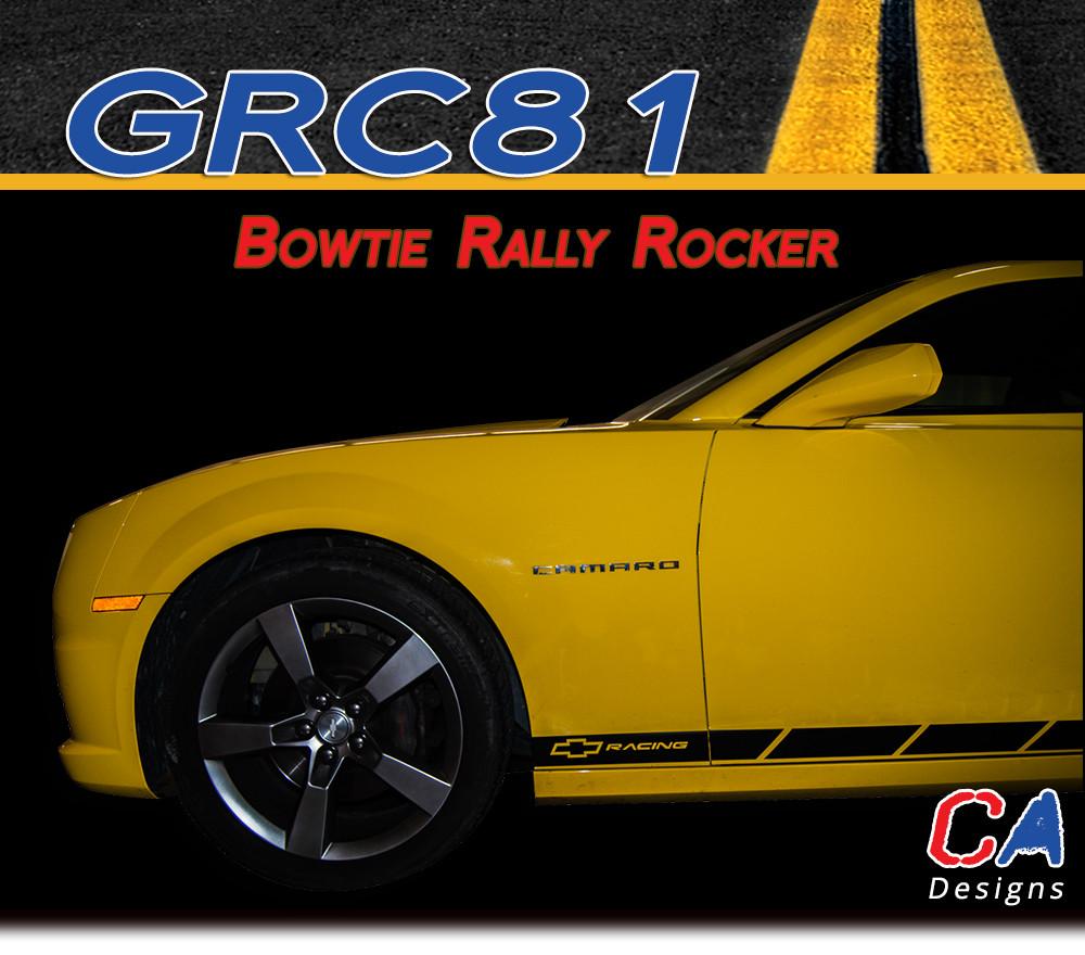 2010 2013 Chevy Camaro Bowtie Rally Rocker Vinyl