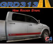 2009-2015 Dodge Ram Hemi Rocker Vinyl Stripe Graphic Kit (M-GRD313)