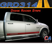 "2009-2015 Dodge Ram ""DODGE"" Rocker Vinyl Stripe Graphic Kit (M-GRD314)"