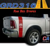 2009-2015 Dodge Ram Truck Bed Stripe Vinyl Striping Graphic Kit (M-GRD316)