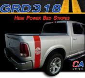 2009-2015 Dodge Ram Truck HEMI POWER Bed Stripe Vinyl Striping Graphic Kit (M-GRD318)
