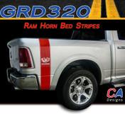 2009-2015 Dodge Ram Truck RAM HORN Bed Stripe Vinyl Striping Graphic Kit (M-GRD320)
