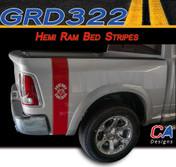 2009-2015 Dodge Ram Truck HEMI RAM Bed Stripe Vinyl Striping Graphic Kit (M-GRD322)