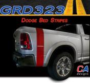 2009-2015 Dodge Ram Small Letter Truck Bed Stripe Vinyl Striping Graphic Kit (M-GRD323)
