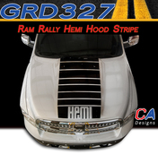 2009-2015 Dodge Ram Rally Hemi Hood Stripe Vinyl Striping Graphic Kit (M-GRD327)