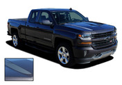 STERLING SPIKES : 2016 2017 2018 Chevy Silverado Lateral Hood Spears Vinyl Graphic Decal Racing Stripe Kit (M-PDS3943)