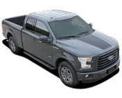 REAPER HOOD Solid Color : Ford F-150  Hood Blackout Vinyl Graphic Decal Stripe Kit for 2015 2016 2017 2018 Models (M-PDS3975)