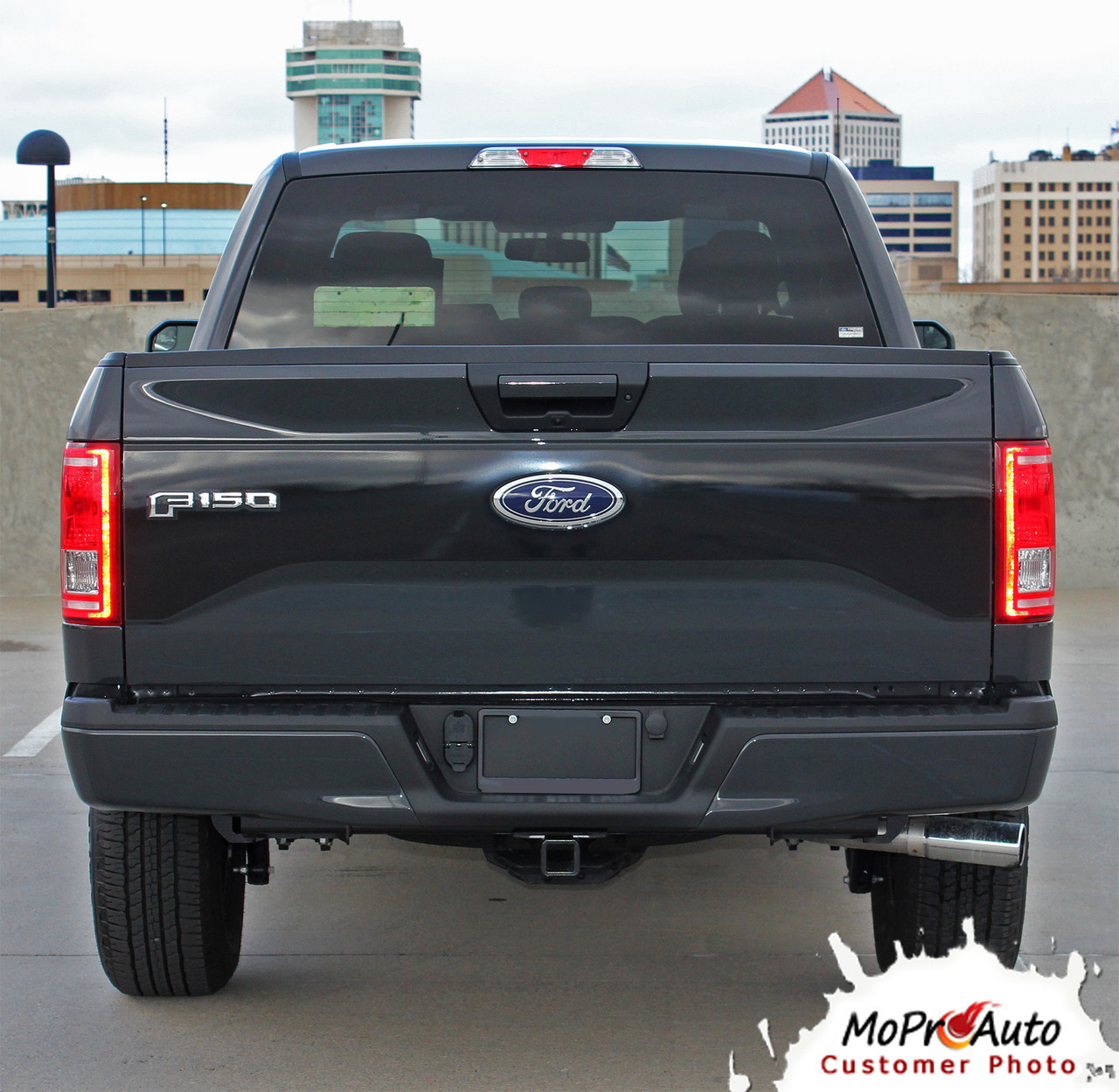 Reaper Tailgate Ford F 150 Tailgate Blackout Vinyl Graphic Decal Stripe Kit For 2015 2016 2017