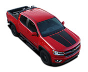 SUMMIT : 2015-2016-2017-2018 Chevy Colorado Hood Dual Racing Stripe Package Vinyl Graphic Decal Kit (M-PDS-4150)