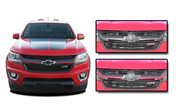 CRESTONE : 2015 2016 2017 2018 Chevy Colorado Front Grill Accent Vinyl Graphic Package Decal Stripe Kit (M-PDS-4159)