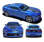 2016 2017 2018 Camaro HERITAGE : Chevy Camaro 50th Anniversary Indy 500 Style Hood Vinyl Graphic Racing Stripes Rally Decals Kit (fits SS, RS, V6 MODELS) (M-PDS-4200)