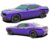 Challenger ROADLINE : Wide Upper Door Vinyl Graphics Side Stripes Accent Decals for 2008-2018 Dodge Challenger (M-PDS4248)