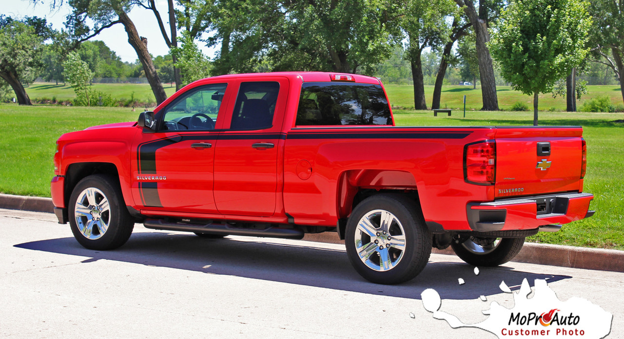 flow 2016 2017 2018 chevy silverado special edition rally style hood and side upper body. Black Bedroom Furniture Sets. Home Design Ideas