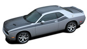 Challenger PURSUIT : Wide Upper Door Vinyl Graphics Side T/A 392 Style Stripes Accent Decals for 2011 2012 2013 2014 2015 2016 2017 2018 Dodge Challenger (M-PDS4504)
