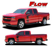 "REPLACEMENT SECTIONS FOR FLOW : 2016-2017 Chevy Silverado ""Special Edition Rally Style"" Hood and Side Upper Body Hockey Accent Vinyl Graphic Decal Stripe Kit (PDS-4407)"