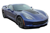 C7 HOOD : 2014 2015 2016 2017 2018 Chevy Corvette C7 Hood Vinyl Graphic Decal Stripes (M-PDS4761)