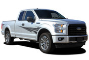 APOLLO : Ford F-150 Side Fender to Door Vinyl Graphic Decal Stripe Kit for 2015 2016 2017 2018 Models (M-PDS-4780)