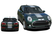 CLUBMAN S-TYPE RALLY : 2016-2018 Mini Cooper Center Hood Stripes Vinyl Graphic Decal Kit (M-PDS-5005)